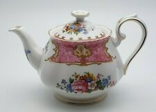 More details for sweet royal albert bone china lady carlyle 3/4 pint teapot - perfect