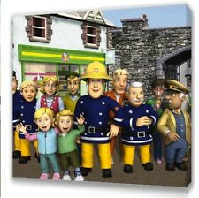 """Fireman Sam  Canvas 10""""x10""""  Framed Picture s3"""