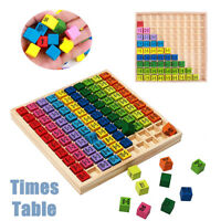 10*10 Montessori Educational Wooden Times Table Kids Learning Toys Blocks Gift