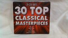 Rare 30 Top Classical Masterpieces 3 CD Set Various Artists 2007 Direct cd3688