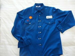 Vintage Shell Oil Company Gas Station  NOMEX Work Shirt
