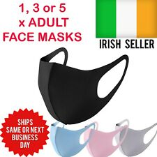 Set of 1, 3, 5 Unisex Face Masks Breathable Reusable Washable Same Day Dispatch