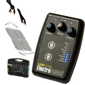 E-Stim Pebble 9 Estim/ Tens Modes 2 Independant Channels  Discreet Packing