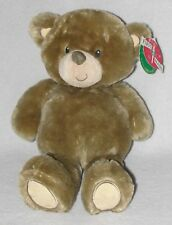 First & Main Plush Brown Fluffies Teddy Bear Soft Stuffed Toy Stitched Eyes 15""