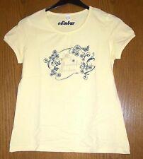 gelbes Shirt mit Aufdruck Gr. 36/38