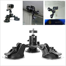 Car Truck Black Low Angle Triple Suction Cup Holder Bracket For 2 3+ 4 5 Camera