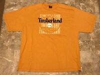 Vintage 90s TIMBERLAND Spell-Out Logo Graphic T-Shirt Adult Size XL Made In USA