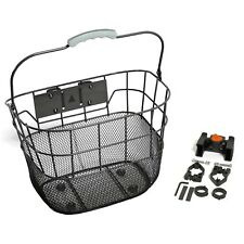 Removable Retro Look Wire Front Handlebar Bike Bicycle Carry Basket BLACK
