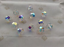 36 Swarovski #5000 5mm Crystal Clear AB Faceted Round Beads