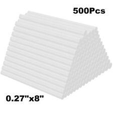 500Pcs Clear Hot Melt Glue Stick 7mm x 200mm For Electric Glue Gun Craft Repair