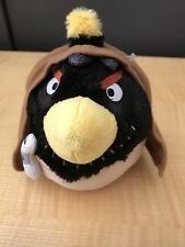 "RIVIO LUCASFILM STAR WARS ANGRY BIRDS BLACK BIRD HEAD PLUSH 7"""