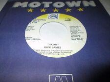 """RICK JAMES GLOW 45 7"""" NM NEAR MINT US MOTOWN GORDY PROMO VINYL 1985 SOUL FUNK"""