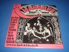 45T KABARET DE LA DERNIERE CHANCE / PIERRE BAROUH / SARAVAH TOURISTRA 1986 VG++