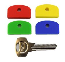 Set of Four Coloured Large Square Headed Identifing Key caps for Yale Keys