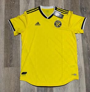 Columbus Crew MLS Soccer Jersey Adidas Aeroready Authentic Mens Medium NWT $120