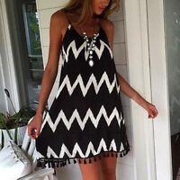 Fashion Womens Summer Chiffon Beach Wear Bikini Cover Up Boho Swing Sun Dress