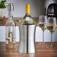 Wine Bottle Cooler Stainless Steel Ice Bucket Double Wall Champagne Silver