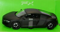 Welly NEX 22493BK - AUDI R8 Matt Black Diecast Car Model Scale 1:24
