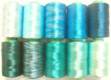 10 Pckgreen Blue Rayon Machine Embroidery Thread Fast 984Y Rsp1 .com Box #6Hp55