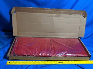 "7 Red Stair Treads Carpet 9""x26"" 100% Olefin Washable Mat Super Soft Plush NIB"