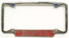 Wynne Pontiac Buick Saugerties New York 1930s 1940s 1950s License Plate Frame