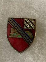 Authentic WWII US Army 17th Field Artillery Regiment Unit DI DUI Crest Insignia