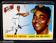 1955 Topps MONTE IRVIN #100 Baseball Card-VG/EX Condition-NEW YORK GIANTS