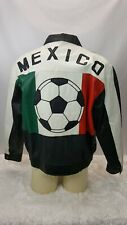 Mexico Futbol Soccer 100% Leather Jacket Mens Size XL