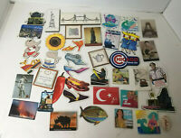 Refrigerator Magnets Souvenir & Novelty Metal Plastic Photos 3-D Lot 41 VTG