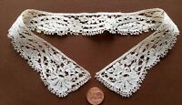 Small 19th C. Handmade English Beds Bobbin Lace Collar COSTUME COLLECT