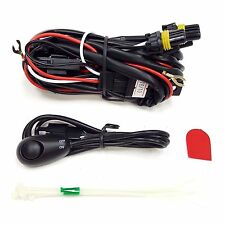 9005 LED 30A 12V Fog Light Wiring Harness Relay Kit ON/OFF Switch 2 Plugs Wire