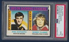 SCORING LEADERS PHIL ESPOSITO BOBBY CLARKE 74-75 TOPPS 1974-75 NO 3 PSA 9  13888