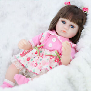 42cm Silicone Reborn Simulation vynil Baby Dolls Soft Toddler Toys For Girls