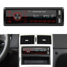 Car Radio Bluetooth 1 DIN In Dash Handsfree 12V Audio Stereo FM MP3/AUX/USB/WMA