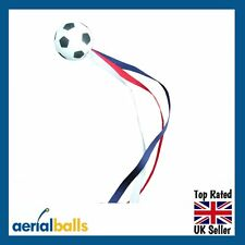 Football RED WHITE & BLUE UK French Flag Car Aerial Ball Antenna Topper