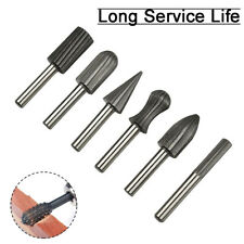 6Pcs Set Tungsten Carbide Rotary Burr Drill Bits For Metal Wood Carving Grinding