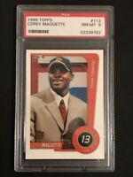 1999-00 Topps Football RC Card #112 Corey Maggette PSA Graded NM- MT 8