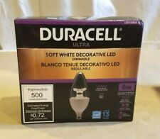 Duracell Ultra LED Light Bulb Soft White Dimmable Candle 6W 2700k (6 Pack)