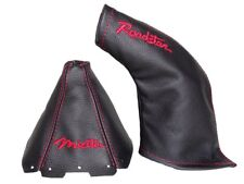 "Gear & Handbrake Gaiter For Mazda MK5 MK2 Leather ""Miata Roadster"" Red Logo"
