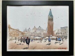 "Watercolor Painting Italy Original ""VENICE"" 9x12 by John Harrison"