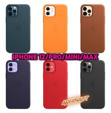 Genuine Original Apple Leather MagSafe Case for iPhone 12,Mini,Pro, Max 6 Colors
