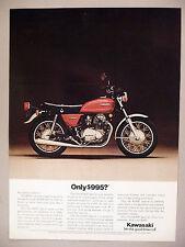 Kawasaki KZ400 Special Motorcycle PRINT AD - 1976