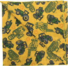 GENUINE John Deere TRACTORS Yellow FARM*USA MADE Bandana BANDANNA Scarf Hanky