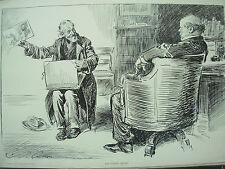 ANTIQUE 1905 PRINT CHARLES DANA GIBSON - THE FUNNY ARTIST - SUBJECT UNIMPRESSED