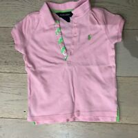 Ralph Lauren Girls Pink Polo size 3