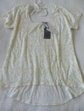 Fat Face Linen Pineapple Tee White Size UK 8 Dh089 NN 07