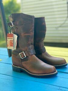 "Chippewa Raynard Harness Pull-On Engineer Boots - Brown, 11"""