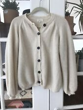L'ENVERS Gaby Wool Cardigan Sweater Cream S/M Garmentory