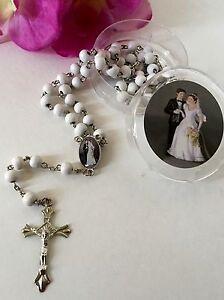 12-Wedding Favors Rosaries Cross Scented White Party Recuerdos de Boda Rosario