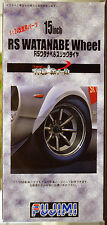 Felgen Watanabe RS 15 Zoll inkl. Goodyear Rennslicks, 1:24, Fujimi 193328